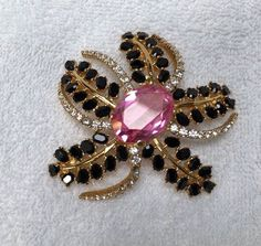 "RARE VINTAGE DESIGNER CINER FLOWER BURST LARGE 3"" GLASS RHINESTONE PIN BROOCH | Jewelry & Watches, Vintage & Antique Jewelry, Costume | eBay!"