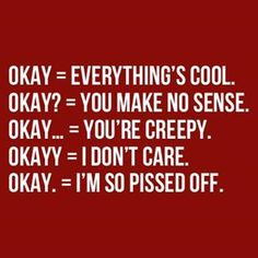 the meanings of okay