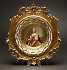 A Royal Vienna style cabinet plate M Leszczynska