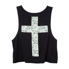 Teens Black Lace Cross Tank Top ($15) ❤ liked on Polyvore featuring tops, shirts, tank tops, tanks, shirt top, lace tank, lacy tops, lacy tank tops and lace shirt