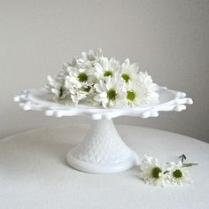 Love daisies, especially with milk glass