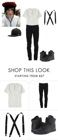 """""""Matching my princess....sort of-Ridge"""" by takemetoneverlxnd-anons ❤ liked on Polyvore featuring Aéropostale, Marcelo Burlon, Supra, MELIN, men's fashion and menswear"""