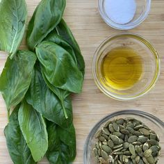 This 4-ingredient pesto recipe couldn't be easier and it's nut-free! See this delicious garden basil recipe over at Milk Allergy Mom. Enjoy! Nut Free Pesto, Homemade French Bread, Bagel Chips, Milk Allergy, Basil Recipes, How To Make Pesto, Fresh Basil Leaves, Nut Allergies