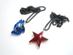 Mass Effect Necklaces – Laser Cut Acrylic Renegade Paragon Pendants