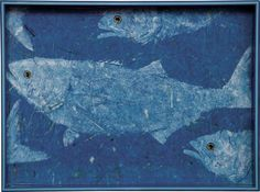 """Blue Fish 15"""" X 20"""" Serving Tray - Beach Style - Serving Trays - by LLdecor"""