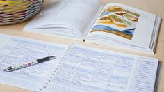 meal planning book (it's on amazon for 20, but I'm betting you could make the charts in word, and then take everything to Kinkos or wherever and get it bound.  Much cheaper that way.  )