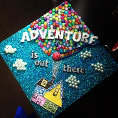 Graduation cap UP!!! I love it!!! Can't wait to graduate with my bachelors degree!