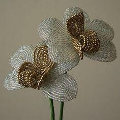 Beautiful, Beaded Bouquets :  wedding crafts diy flowers 1587590