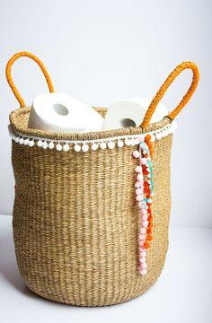 DIY Pom Pom Storage Basket
