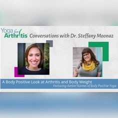 Welcome to Conversations with Dr. Steffany Moonaz a new series of chats with folks sharing their expertise and insights into all things #yoga and #arthritis! . Our first guest is Amber Karnes of Body Positive Yoga. @drmoonaz and @amberkarnesofficial dive into the world of the effects of body weight on Arthritis and how stigma can create barriers between the research and the lived experience of practicing yoga with arthritis and in a larger body. Amber shares the perspective of some #research… Yoga For Arthritis, Body Positive, New Series, Body Weight, Conversation, Perspective, Larger, Positivity, Create
