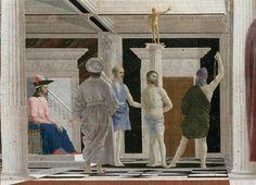 Piero della Francesca | The Flagellation of Christ (detail), c.1464