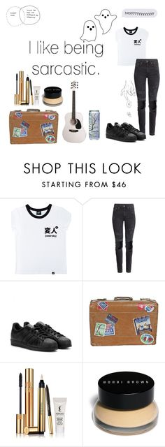 """""""."""" by belieberbry on Polyvore featuring mode, Illustrated People, H&M, adidas, Yves Saint Laurent en Bobbi Brown Cosmetics"""