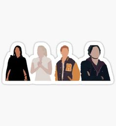 Veronica, Betty, Archie & Jughead from Riverdale, Minimalist art Printable Stickers, Cute Stickers, Archie Jughead, Riverdale Cast, Riverdale Netflix, Tumblr Stickers, Aesthetic Stickers, Archie Comics, Buy Art Online