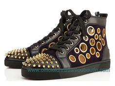 Christian Louboutin Bubble Spike Multi 3140963-U065 Pour Homme NOir/Or - 1412030358 - Officiel Christian Louboutin Distributeur France Website,Christian Louboutin Soldes!
