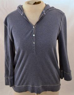 Beautiful American Eagle Outfitters Size XL Long Sleeve Blue Hooded Blouse #AmericanEagleOutfitters #HoodedBlouse
