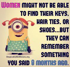 Women Minion Quotes