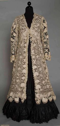 Irish lace coat, America, c. 1905