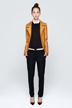 I have a leather jacket in this color - it's a good neutral that also looks great with gray pants and ice lilac sweater.