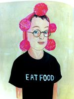 Eat Food painting from Food Rules by Michael Pollan and illustrated by Maira Kalman