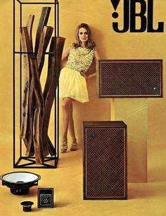 Vintage audio JBL speakers, 1967