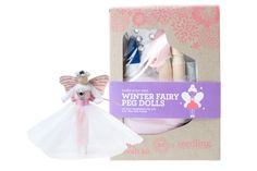 Let your imagination fly! Your will love making & playing with this Winter Fairy Peg Doll.   Honest Winter Fairy Peg Doll DIY Craft Kit, collaboration with Seedling