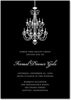 black tie gala invitations romance plantable gala business