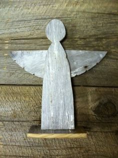 Wooden Angel Christmas Decoration made from by BaldMansWorkshop, $15.00