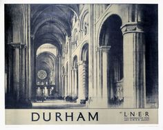 'Durham', LNER poster, 1930.