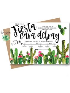 Say adios to singlehood with fiesta themed bachelorette party printable invitations. Bring on the tacos and tequila!