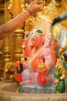 This is a picture of Ganesh at a temple.