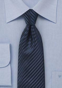 Herrenkrawatte Streifen-Struktur navyblau