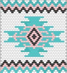 Wayuu Mochilla Bag Chart - Knitting and Crochet Tapestry Crochet Patterns, Crochet Motifs, Crochet Chart, Loom Patterns, Beading Patterns, Cross Stitch Patterns, Knitting Patterns, Beaded Crochet, Tapete Floral