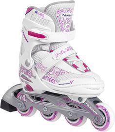 Inline Skates Wit Roze Maat 30-33