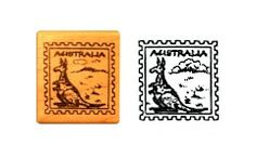 #Australia Rubber Stamp for #ThinkingDay. Great for passports or making Australia swaps.From MakingFriends.com Brownie Scouts, World Thinking Day, Kings Day, Girl Scouts, Daisies, Troops, Geography, Brownies, Badge