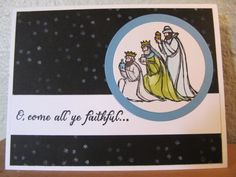 Stampin' Up! All Ye Faithful, aquapainter on shimmery white by Heather Westlake, front