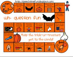 Halloween Wh- Board Game (Freebie)