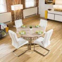6324e62e82ff Extending Dining Sets - Dining Sets - Dining Room. White Gloss Dining TableLarge  Round ...
