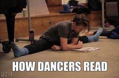 How #dancers read! :)  #dance #dancerproblems