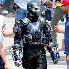 Frank Grillo as Brock Rumlow/Crossbones on the set of Captain America: Civil War, May 14, 2015