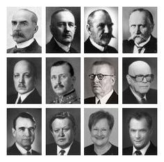 Presidents of Finland - Suomen presidentit Helsinki, History Of Finland, All Presidents, Finnish Words, School Fun, Ancient History, Independence Day, Norway, Sweden
