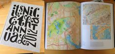 Watercolor Maps on Its NIce That 2012 Annual | Flickr - Photo Sharing!