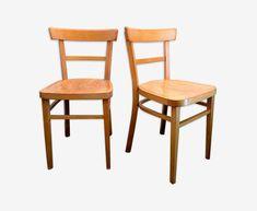 Lot de deux chaises bistrot vintage