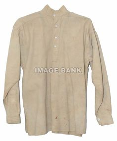 Man's shirt. CWu157d- Shirt made by Silas Warren of the 17th Illinois while a prisoner at Andersonville
