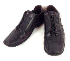 Mens-Donald-Pliner-Shoes-11-Black-Leather-Athletic-Oxfords