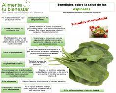 Infografía Beneficios para la salud de las espinacas