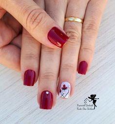 Pretty Nail Designs, Short Nail Designs, Red Nails, Swag Nails, Cute Nails, Pretty Nails, October Nails, Fingernail Designs, Finger Nail Art
