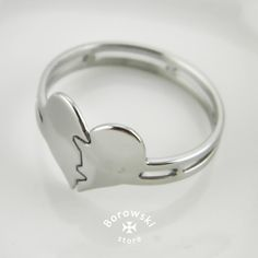Broken Heart ring free shipping  stainless steel от BorowskiStore