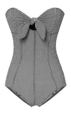 Poppy Bandeau Maillot by Lisa Marie Fernandez for Preorder on Moda Operandi