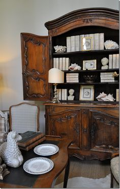 Country French Decorating with Antiques ~ An antique French Buffet a Deux