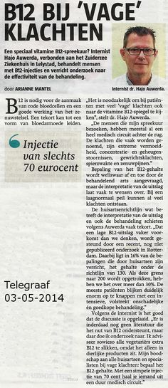 Artikel in de Telegraaf over B12-tekort